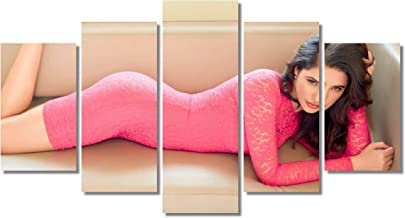 Nargis Fakhri Hot Wall Art Canvas Framed Print 5 pieces Home Decor Ready to Hang