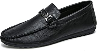 The small cat Men Leather Casual Shoes Slip On Fashion Mens Loafers Moccasins