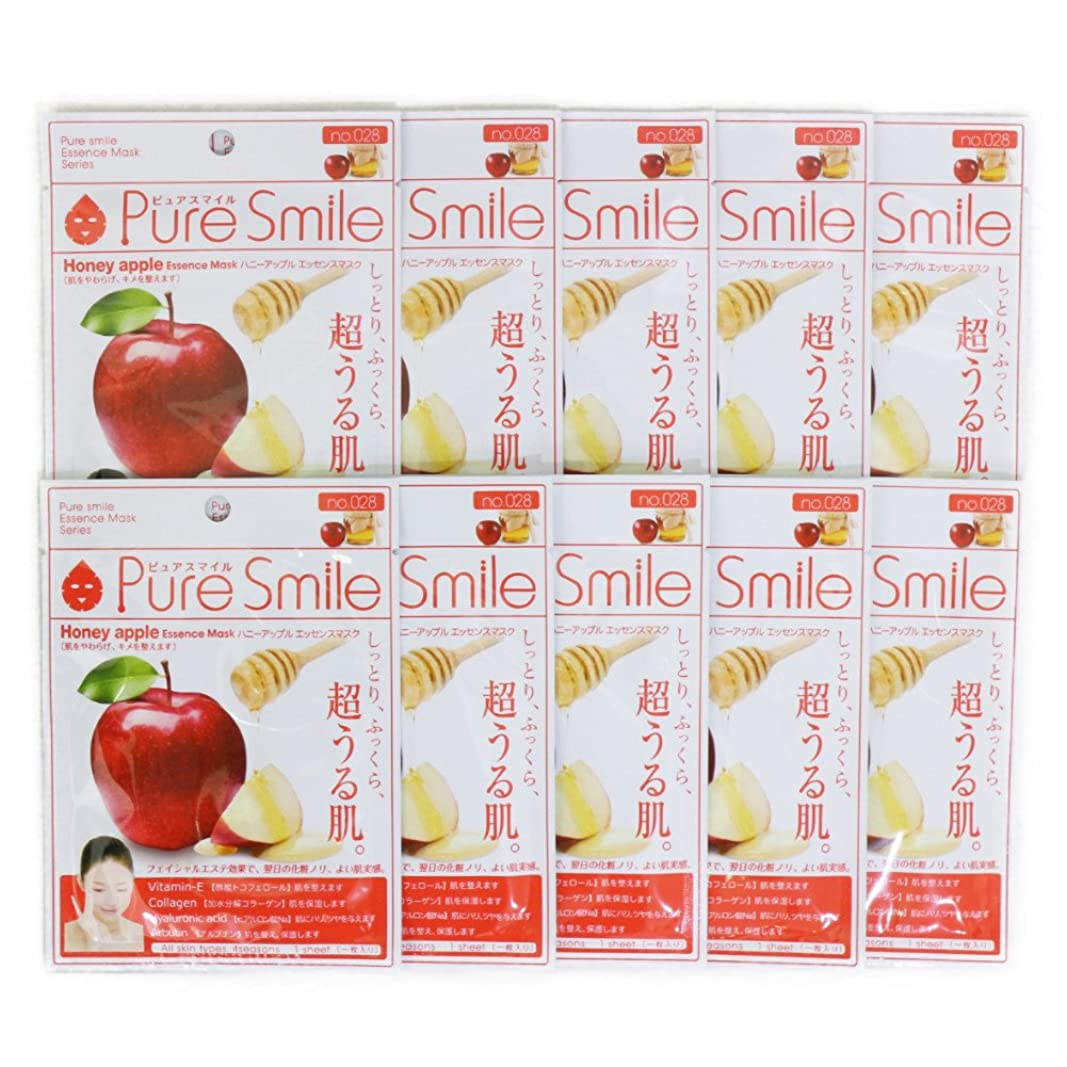 復活グローブプーノPure Smile ピュアスマイル エッセンスマスク ハニーアップル 10枚セット