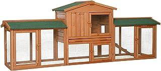 Clapier XXL Petit enclos pour animaux Villa pour lapin Premium 212x52x85 cm