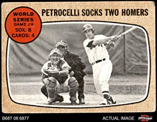 1968 Topps # 156 A World Series - Game #6 - Petrocelli Socks Two Homers Rico Petrocelli/Tim McCarver St. Louis/Boston Cardinals/Red Sox (Baseball Card) Dean's Cards 2 - GOOD Cardinals/Red Sox