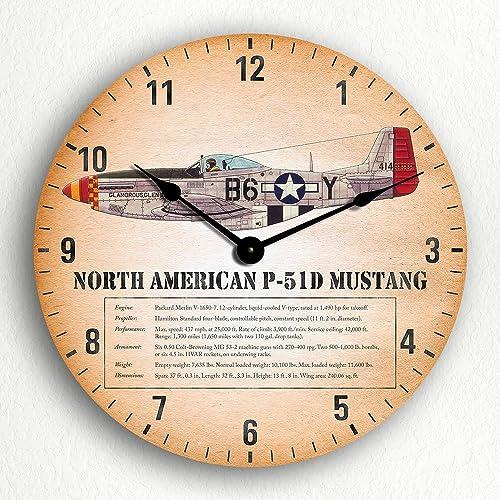 """Zulu Time Aviation Wall Clock by Trintec ZT14-1 Black Face 14/"""""""