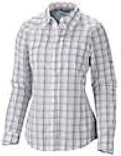 Columbia Sportswear Womens Silver Ridge Plaid Long Sleeve Shirt, White, X-Large