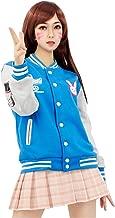 DAZCOS US Size Cotton Blue Baseball Letterman Jackets with Pockets