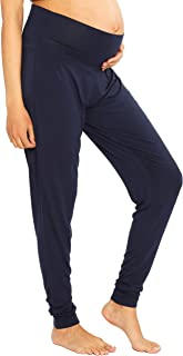 Angel Maternity Women's Maternity Comfortable Casual Pants, Navy, 2XL
