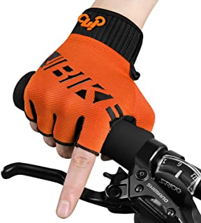INBIKE MTB Gloves, Mountain Bike DH Road Riding Half Finger Cycling Gloves Men Women Orange