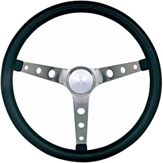 Grant 968-0 Classic Nostalgia Style Steering Wheel with Black Foam Grip and Brushed Stainless Spokes