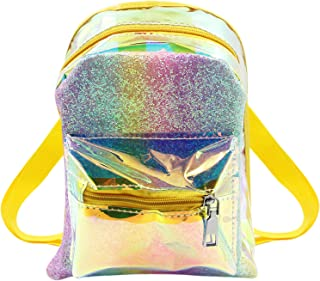 MOSSTYUS Holographic Backpack Hologram Laser Travel Casual Daypack Satchel Purse for Kids Girls Women