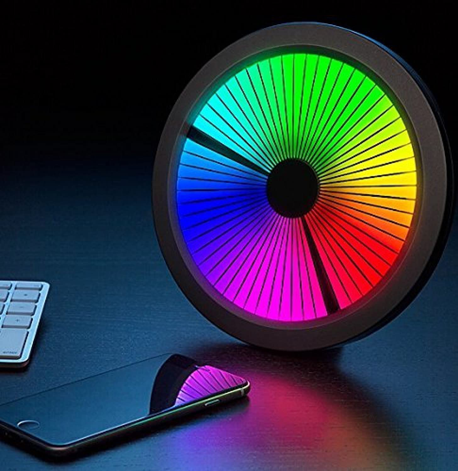 Chromatic  LED color Spectrum Clock. Mind Blowing and Twisting Mesmerizing Excellent Clock. Full color Spectrum