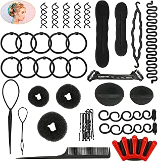 40 Pcs Hair Styling Kit Set Number-one DIY Hair Accessories Fashion Hair Styling Tools Hair Modelling Tool Kit Hairdress K...