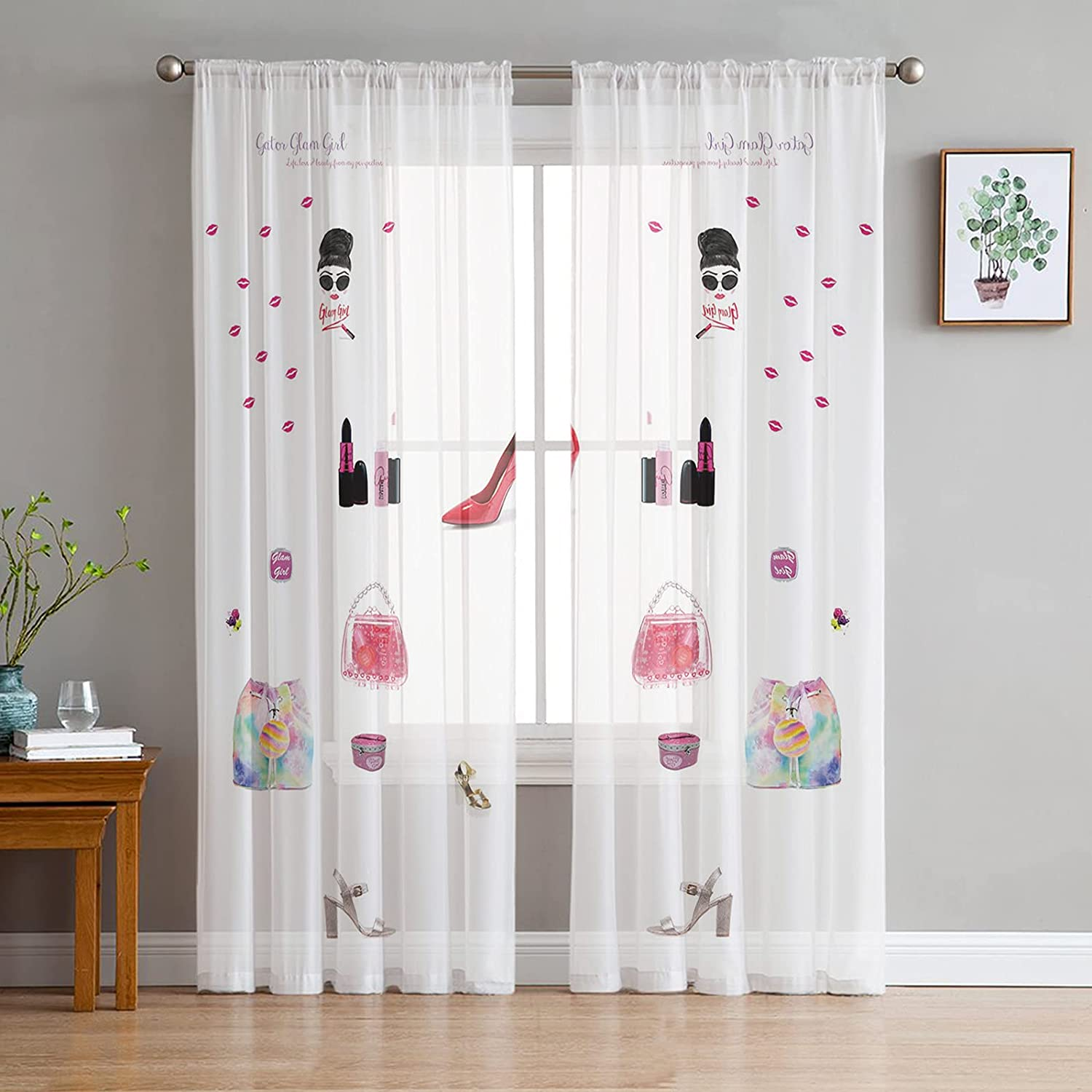 FAMILYDECOR Award-winning store Sheer Curtains 96 inches Grommet Voile W Free shipping anywhere in the nation Long Drapes