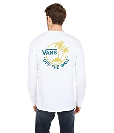 Vans Surf Palm Long Sleeve (White/Cress Green/Jasper) Men