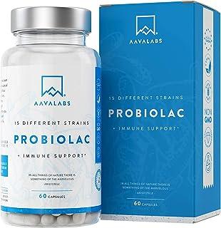 Probiótico 60 mil millones de CFU de AAVALABS - 15 Cepas