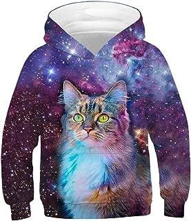 NAYINLAN Women Kids Girls Rainbow Unicorn Print Pullover Hoodies Sweatshirt
