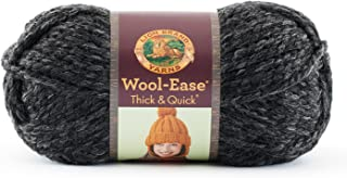 Lion  640-149 Wool-Ease Thick & Quick Yarn , 97 Meters, Charcoal