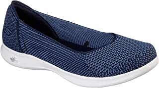 Skechers Women's GO Step Lite - Blue Star Slip On Skimmer Sneaker, Navy, 11 W