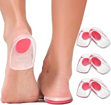 Gel Heel Cups Plantar Fasciitis Inserts - Silicone Heel Cup Pads for Bone Spurs Pain Relief Protectors of Your Sore or Bru...