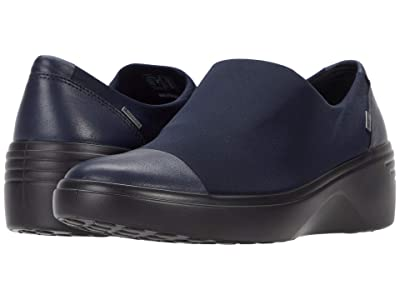 ECCO Soft 7 Wedge GTX Slip-On (Night Sky/Night Sky Cow Leather/Textile) Women