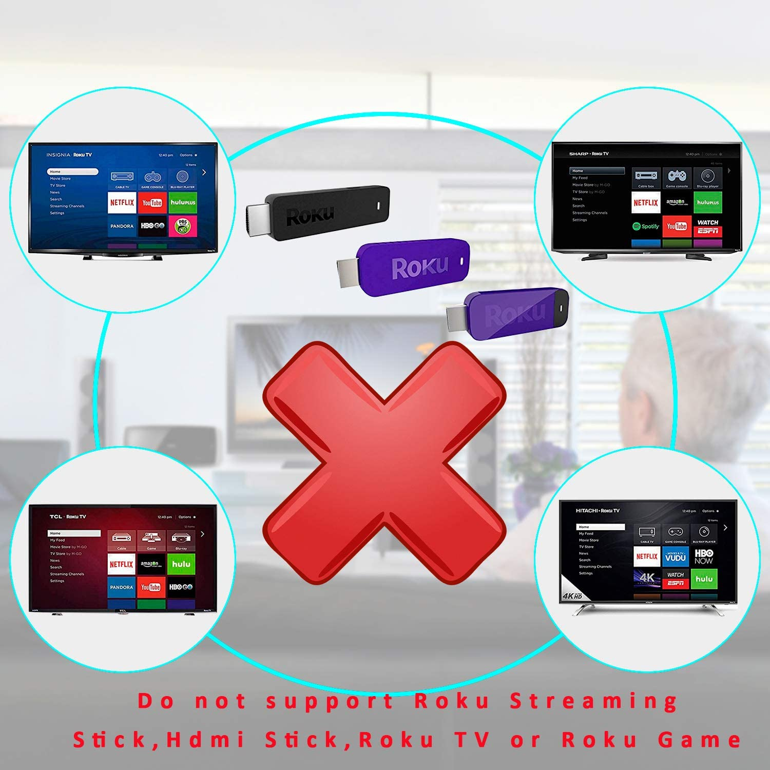 New IR Remote Control Compatible with Roku 1/2/3/4 Media Player Box LT HD XD XS