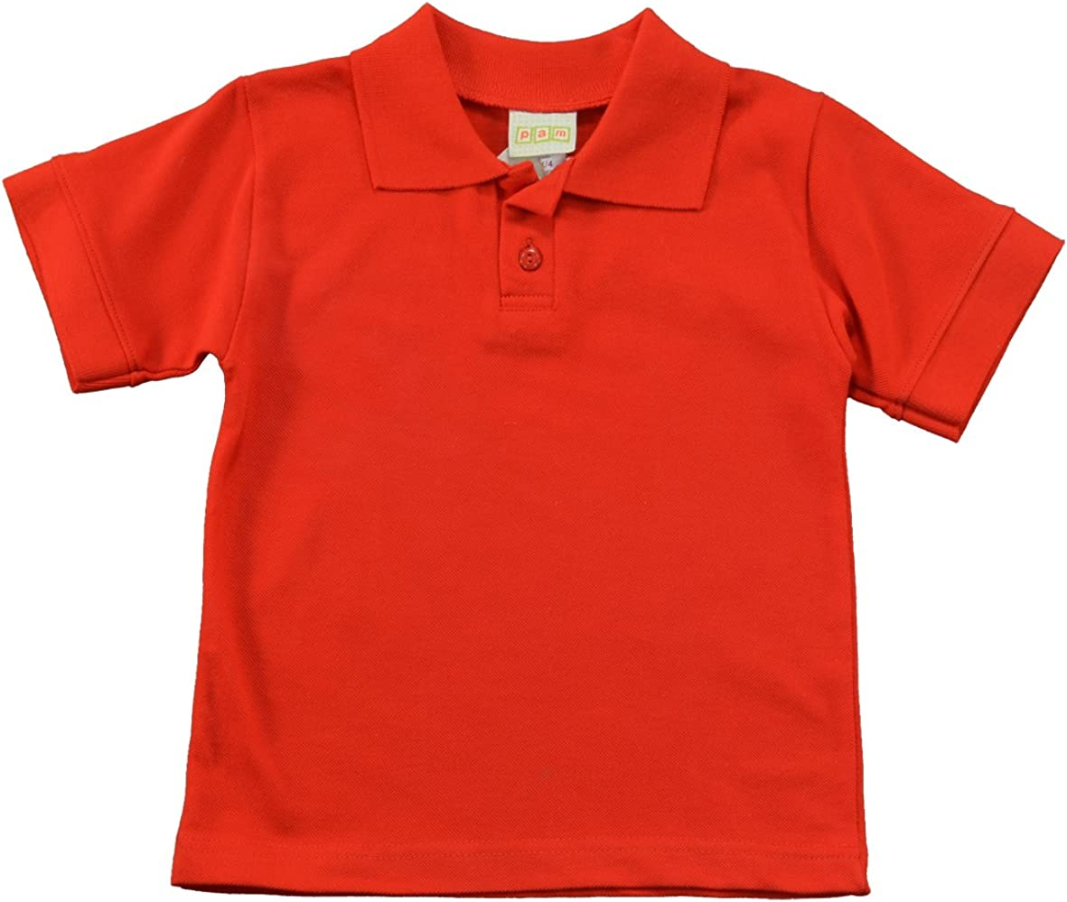 PAM Little Boys' Blank Polo Shirt