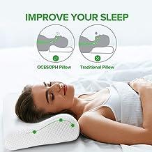 Neck Pillows for Sleeping, Memory Foam Pillow, Cervical Pillow for Neck Pain Relief, Orthopedic Contour Sleep Pillows, Bam...