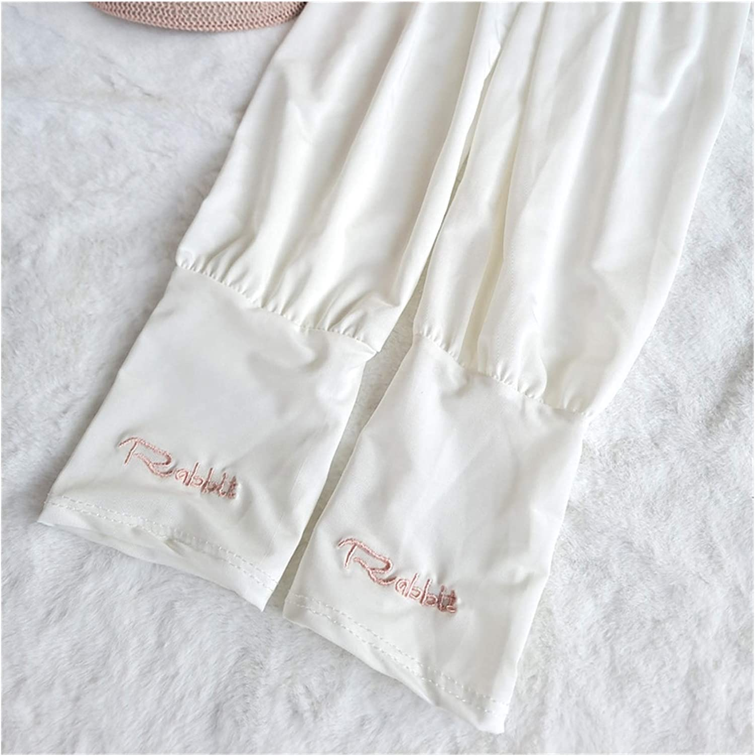 DMYONGLIAN Lace Gloves Summer Loose Sunscreen Driving ice Silk Sleeve Female Long Length UV Protection Sleeve arm arm Glove ice Sleeve Accessories (Color : A3, Size : One Size)