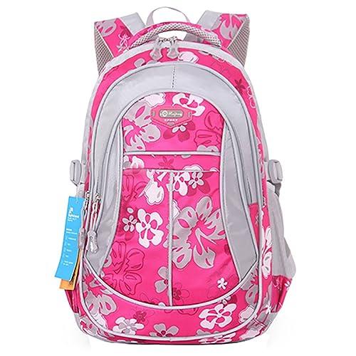 3e9fd7fd8cc SellerFun Girl Flower Printed Primary Junior High University School Bag  Bookbag Backpack(Rose,Small