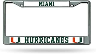 NCAA Miami Hurricanes Chrome Plate Frame