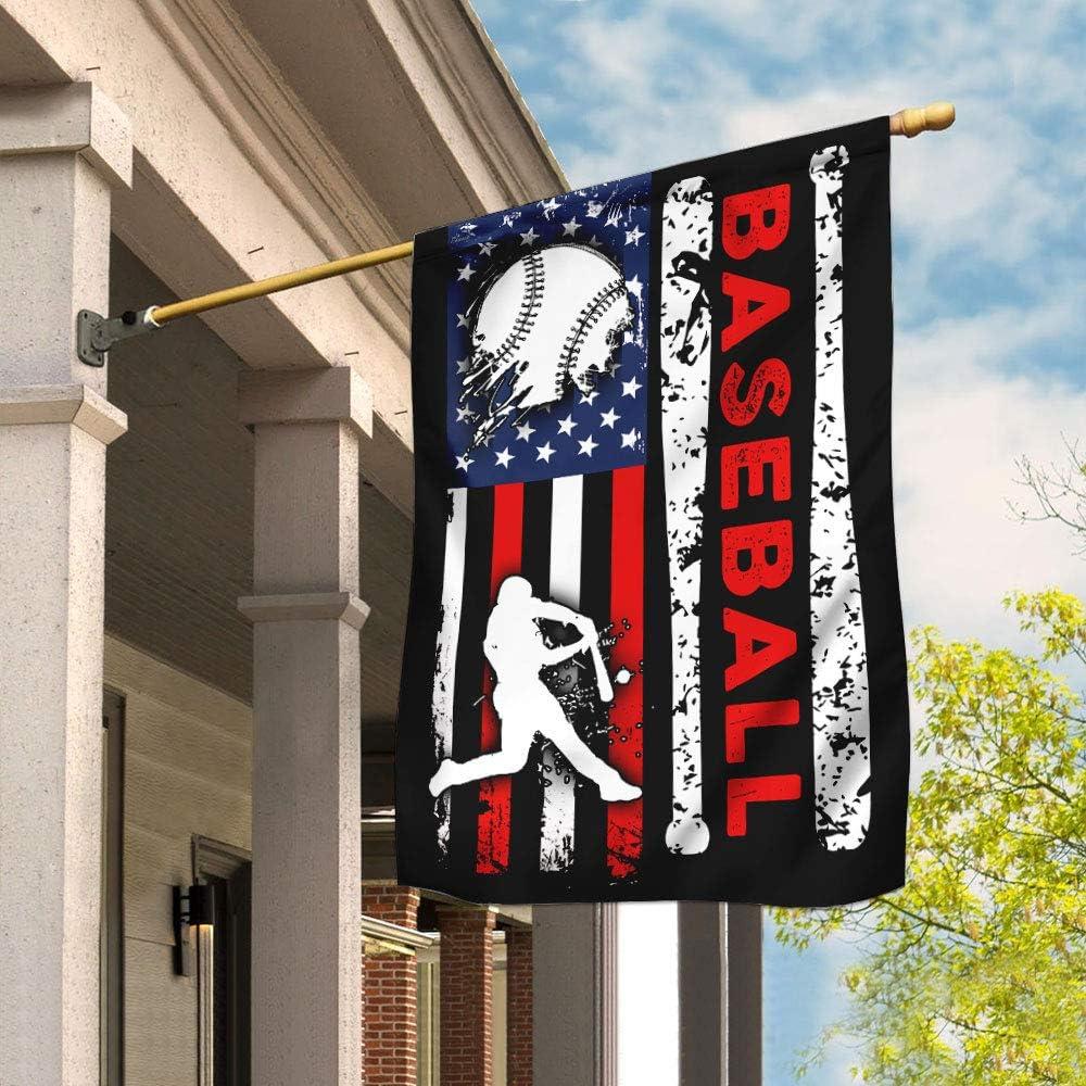 Seasonal Wrap入荷 Flags-Baseball Flag QNK155F1 House 激安特価品 29.5