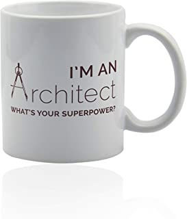 Gifts for architect 11 oz. white ceramic cup. Architecture mug.
