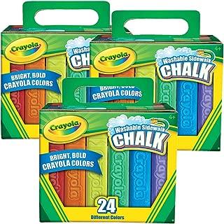 Crayola 24 Count Sidewalk Chalk, Pack of 3