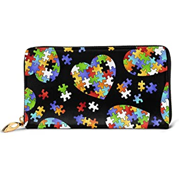 Autism Awareness I Love Someone With Autism Coin Pouch Clutch Purse Wristlet Wallet Phone Card Holder Handbag
