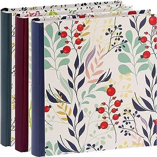 Erica Lot de 3 Albums Photos Flowers 2 à Pochettes pour 200 Photos 11.5x15