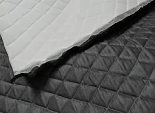 Charcoal Suede Quilted Auto Headliner Headboard Fabric with 3/8