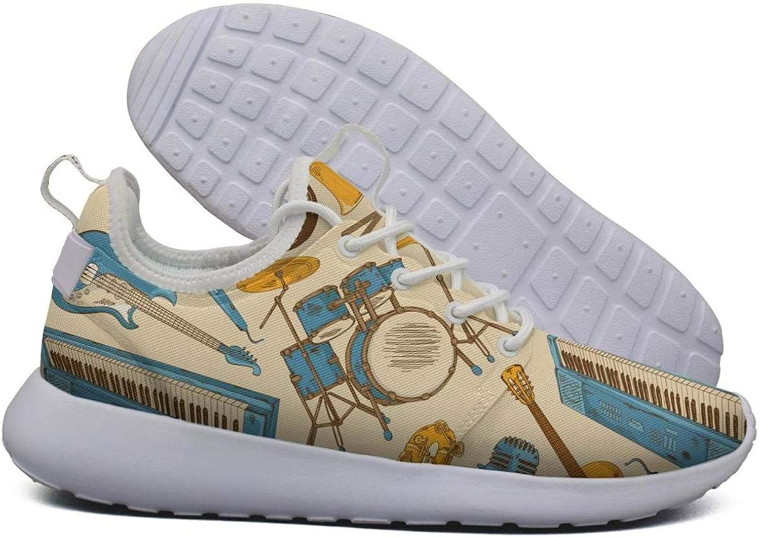 Hoohle Sports Womens colorful Musical Instruments warmoth Guitar Flex Mesh Roshe 2 Lightweight Cute Cross-Trainer shoes