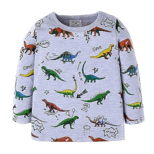 86f23f9a Little Boys Dinosaur Sweatshirt Toddler Top T-Shirt Rex Dino Baby Easter  Clothes Blue