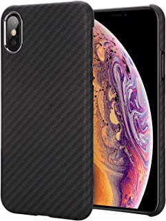 iPhone Xs Case 5.8 Inch - Getron 100% Aramid Fiber Slim Minimalist Strong Solid Durable Snap-on Exact-Fit Hard Back Cover for Apple iPhone Xs 5.8