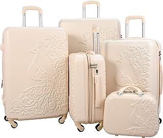 Luggage Trolley Set, 5 Pcs - Beige