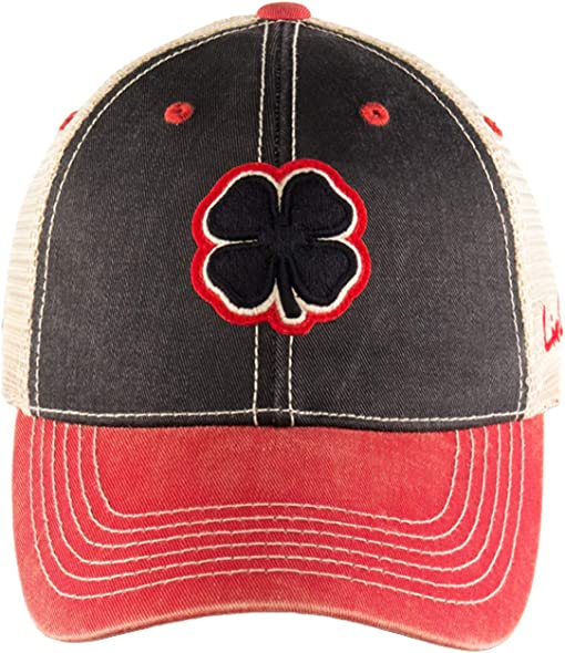 Black Clover/Red Trim/Black/Tan