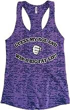 Cybertela Women's Guess My Age and Win A Big Fat Lip, Funny Burnout Racerback Tank Top