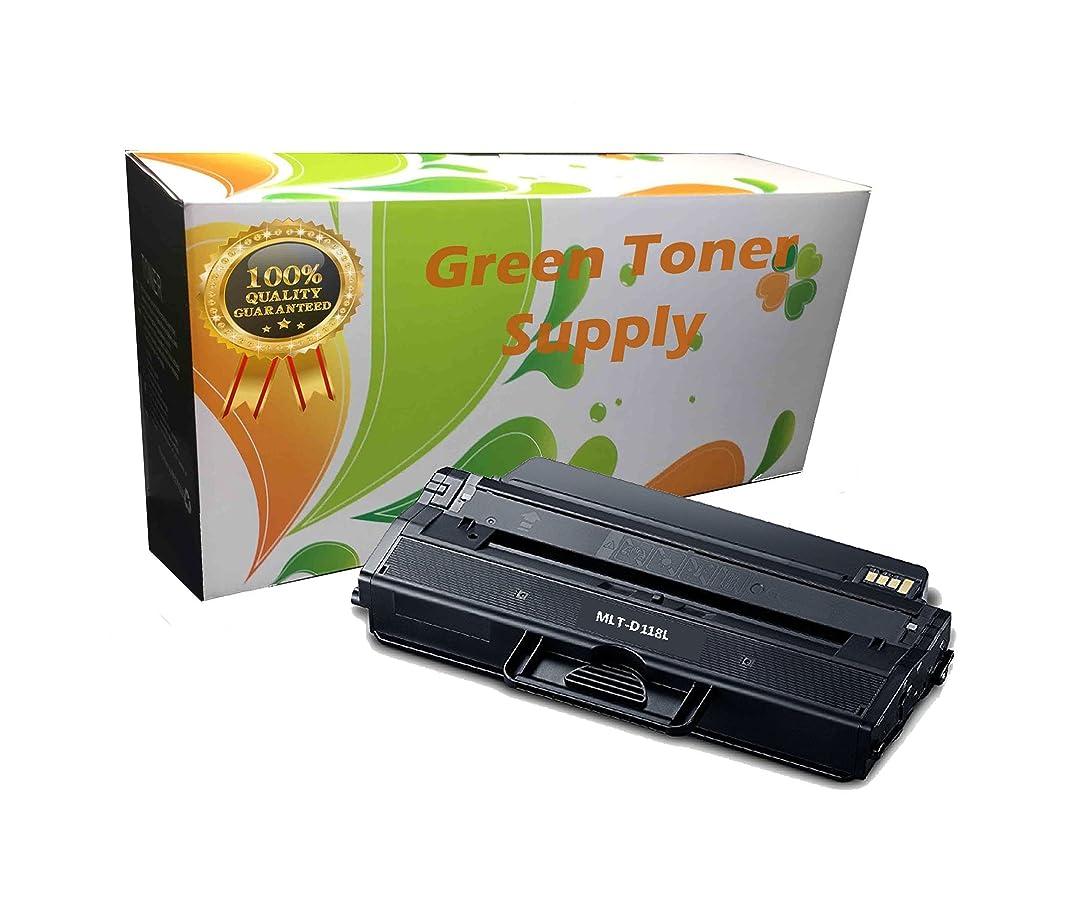 Green Toner Supply New Compatible Samsung MLT-D118L MLT-D118S Black High Yield LaserJet Toner Cartridges, 1 Pack
