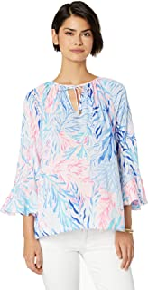 Lilly Pulitzer womens Willa Flounce Sleeve Top Willa Flounce Sleeve Top