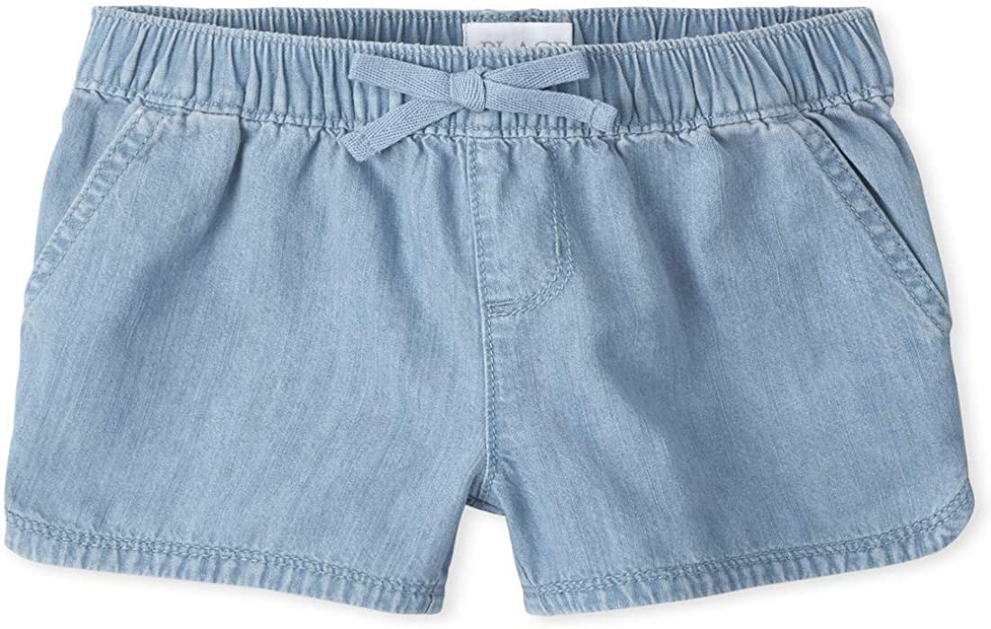 The Children's Place Girls' favorite Plus Denim Superlatite Pull Shorts on
