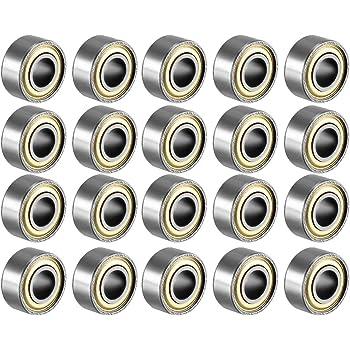 Sourcingmap a18062800ux0229 Cuscinetto a Sfera 684ZZ Doppio Schermo, 4 x 9 x 4 mm in Acciaio al Carbonio, 20pz