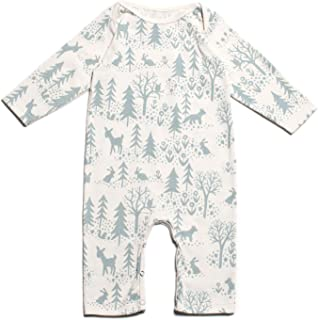 Winter Water Factory Long Sleeve Organic Cotton Romper Coverall, Boys, Girls, Unisex Baby