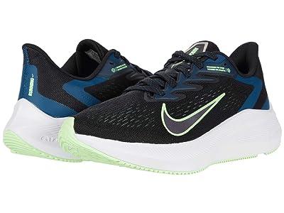 Nike Zoom Winflo 7 (Black/Vapor Green/Valerian Blue) Women