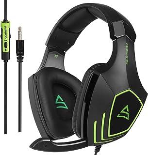 comprar comparacion Auriculares para Juegos SUPSOO G820, Aislamiento de Ruido con Cable de 3,5 mm Auriculares para bajo la Oreja con micrófono...