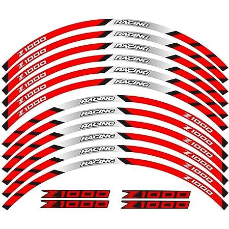 Motorrad Reifen Reflektierende Aufkleber Felgenaufkleber Für Kawasaki Z1000 Auto