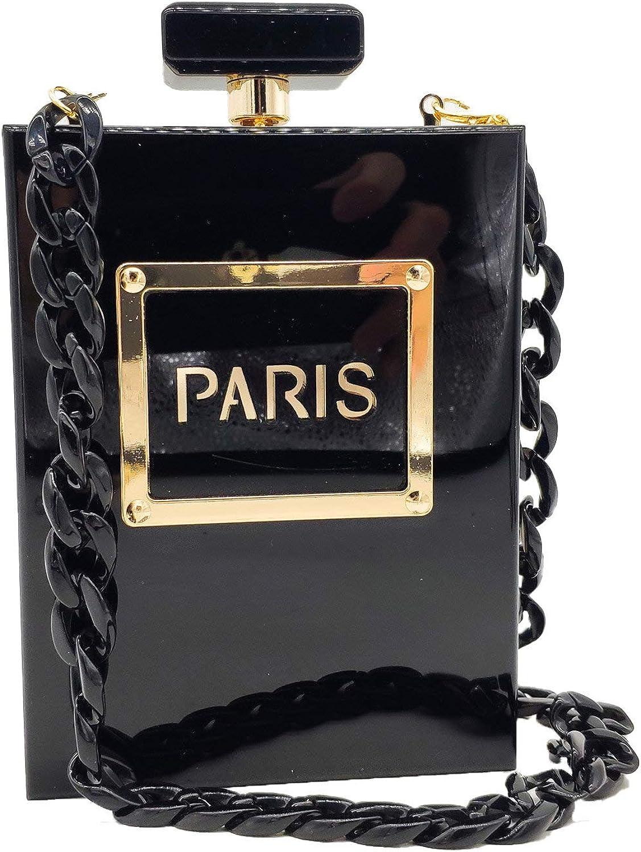 Black Paris Safety and trust Perfume Super intense SALE Shape Women Clutch Acrylic Bags Evening Box