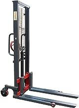 Pake Handling Tools - Manual Stacker, Hand Pump Lift Truck 2200 lbs Capacity for Skid/Single Sided Pallet